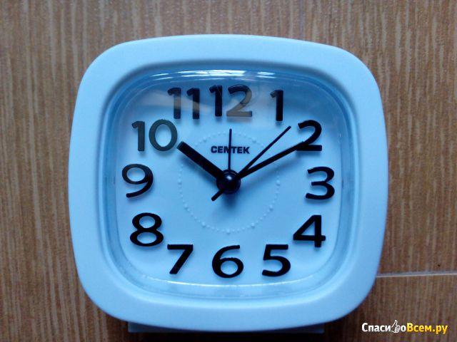 Кварцевый будильник Centek CT-7205 White фото