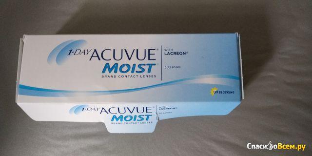 Однодневные контактные линзы Acuvue Moist фото