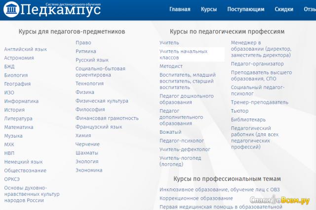 Система дистанционного образования Педкампус- pedcampus.ru фото