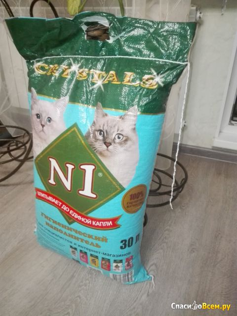 Силикагелевый наполнитель для кошачьего туалета Crystals N1