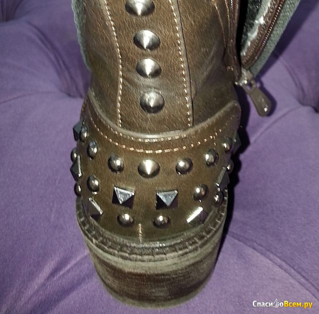 Ботинки женские темно-коричневые Jumex Coffee V95013 фото