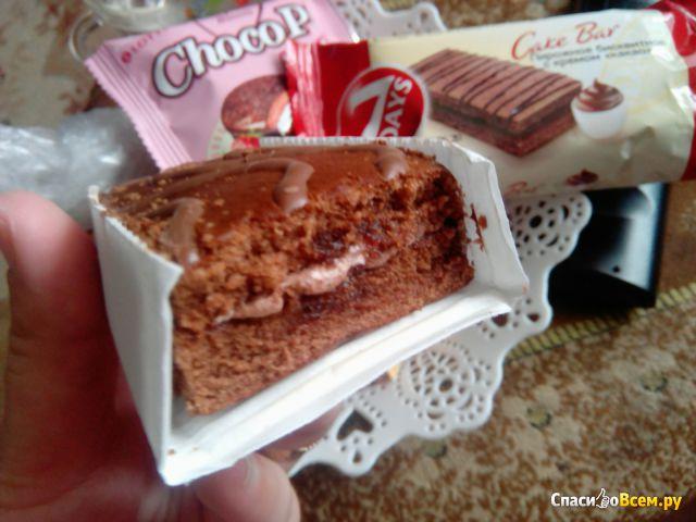"""Пирожное бисквитное 7 Days Cake Bar с кремовой начинкой """"Какао"""""""