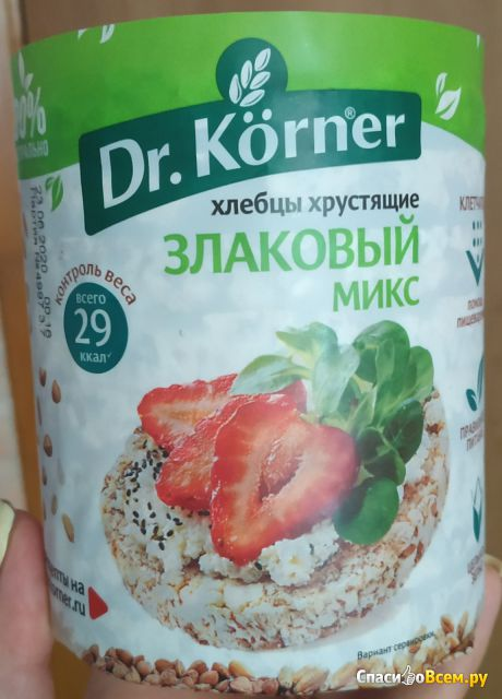Хлебцы хрустящие Dr. Korner Злаковый микс фото