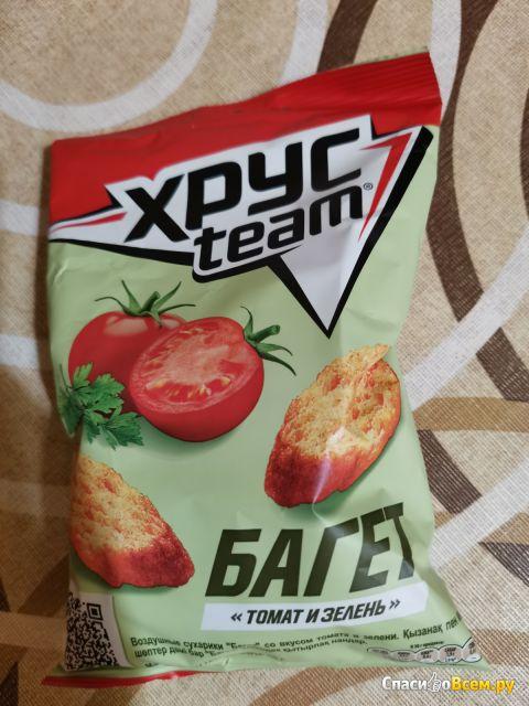 "Сухарики ХрусTeam ""Багет"" томат и зелень"