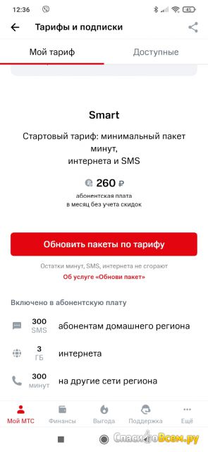 "Тариф ""Smart МТС"" (МТС Екатеринбург)"