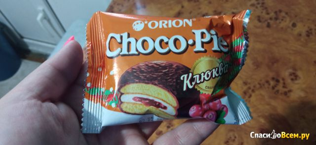 "Пирожное Orion Choco Pie ""Клюква"""