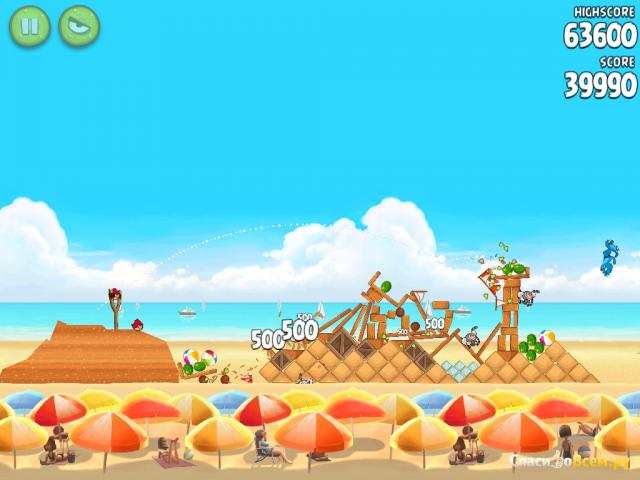 Игра Angry Birds HD Rio для iPad