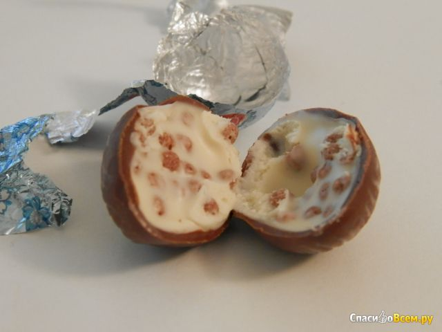 Шоколадные конфеты Witor's Con Cereali Maxi Ovetti Al Latte