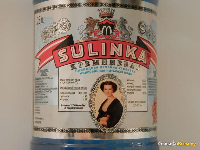 Природная лечебно-столовая минеральная питьевая вода Sulinka кремниевая фото