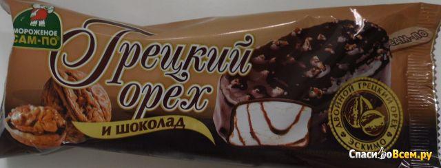 Мороженое САМ-ПО «Грецкий орех и шоколад» фото