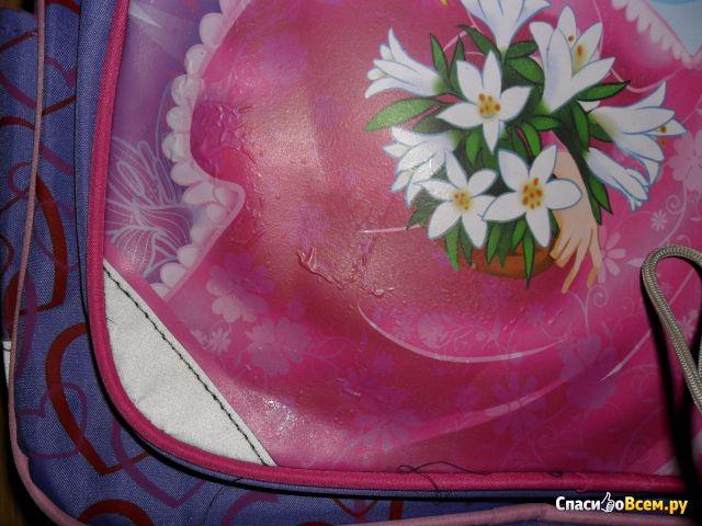 """Рюкзак Пифагор для начальной школы, """"Rose angel"""", сиреневый фото"""