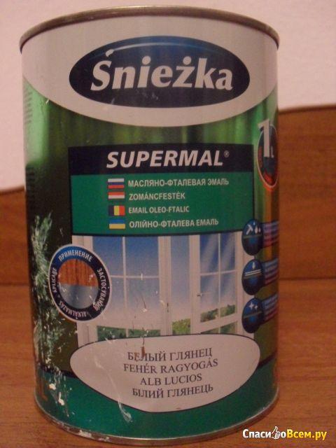 Масляно-фталевая эмаль Sniezka Supermal белый глянец
