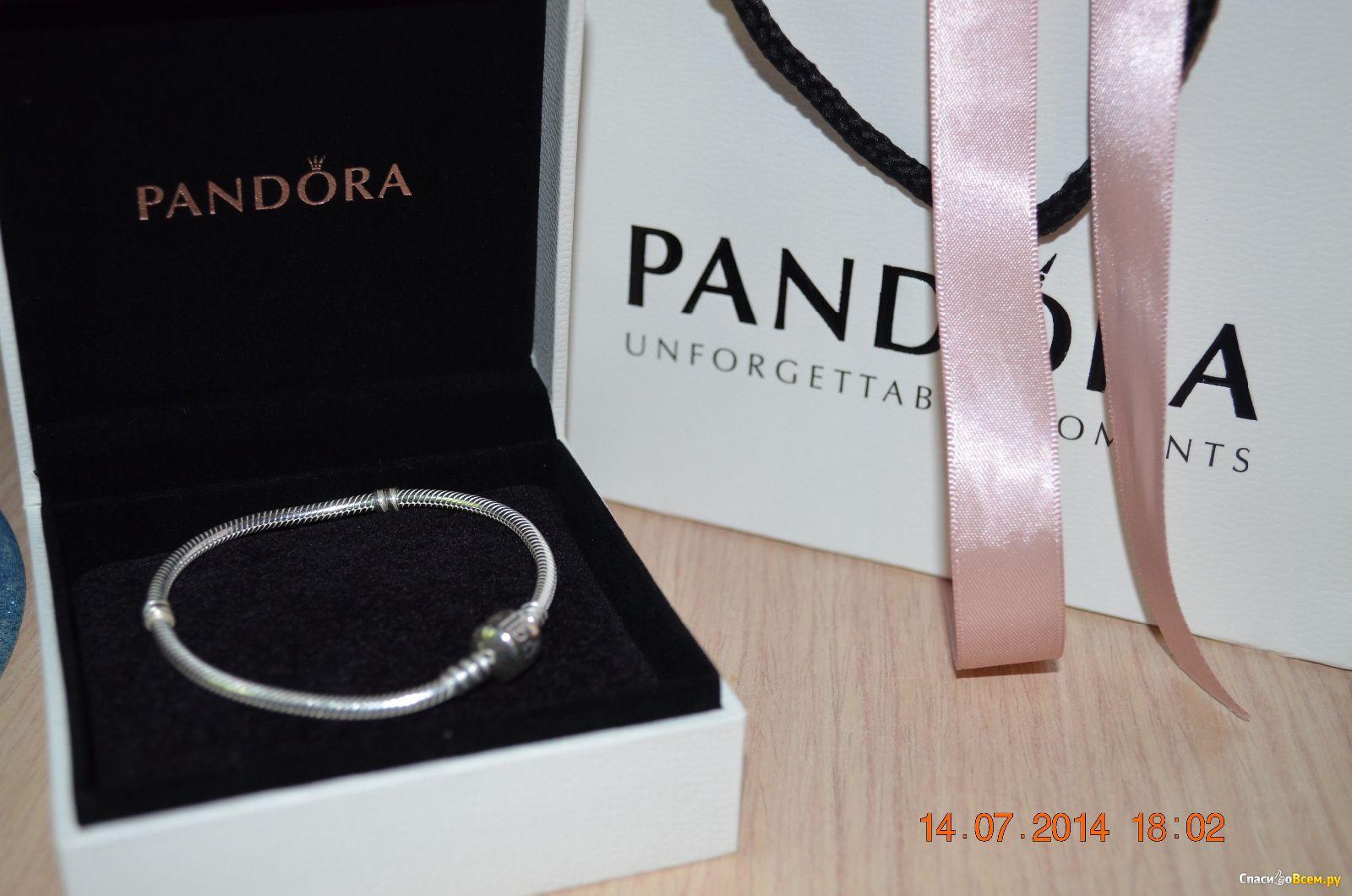 отзыв про браслет Pandora серебро 925 590702hv универсальное