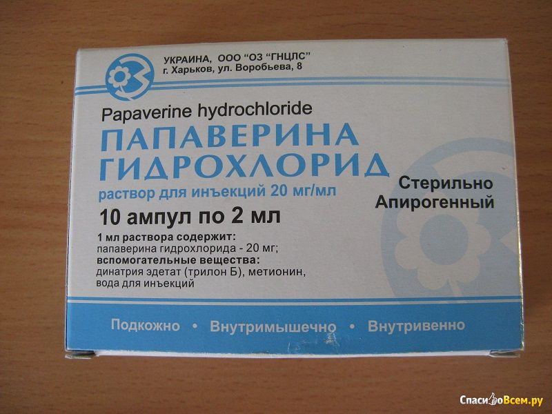 лекарство папаверин инструкция применению