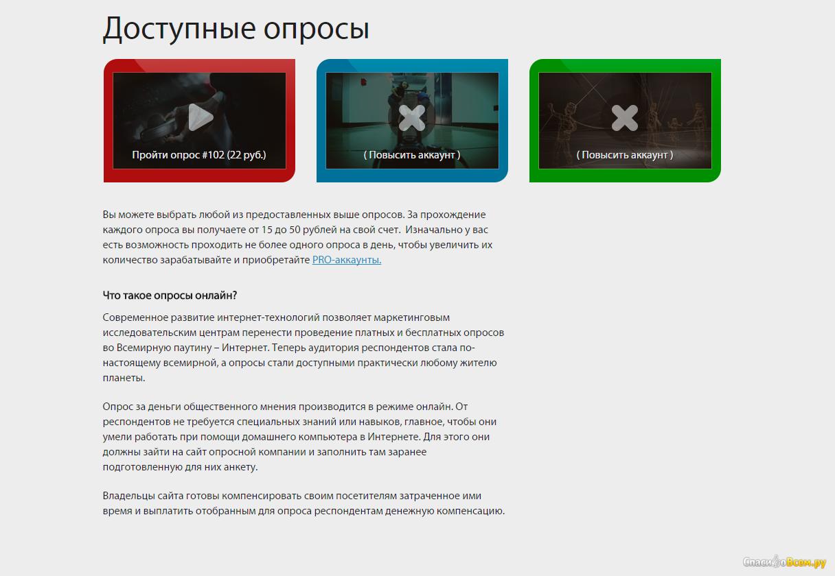 Сайты опросной компании интенсив по созданию сайта