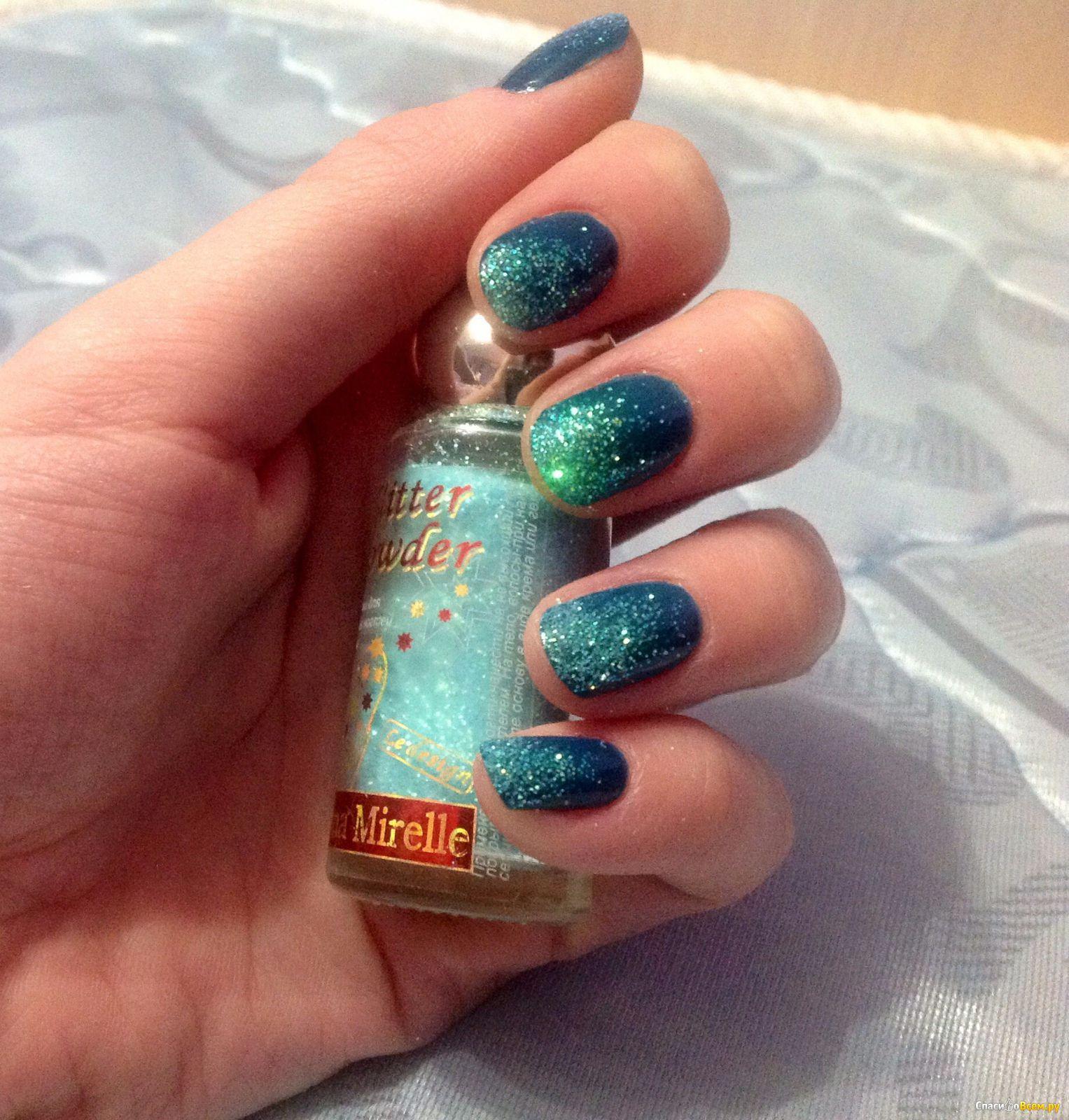 Большие блестки на ногтях