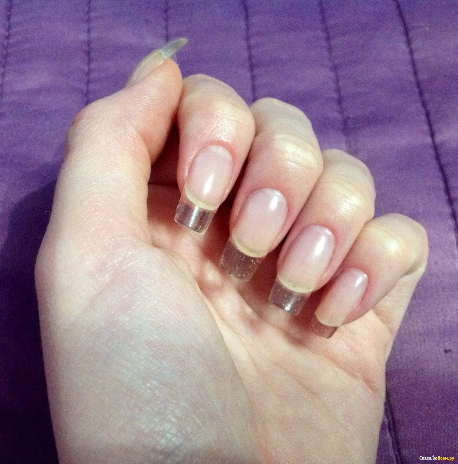 Наращивания ногтей на формы фото