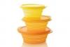 Складные ярко-желтые контейнеры для пищевых продуктов Tupperware