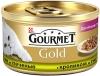 Корм консервированный полнорационный для взрослых кошек с кроликом и печенью Gourmet Gold