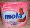 Туалетная бумага Mola розовая