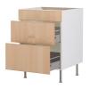 Напольный шкаф с тремя ящиками IKEA Фактум, березовый шпон
