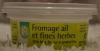 Сыр творожный для бутербродов с чесноком и травами Auchan