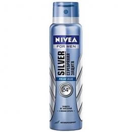 Дезодорант-антиперспирант Nivea Silver Polar Blue серебряная защита спрей