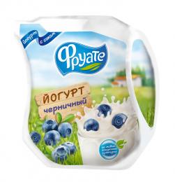 Йогурт питьевой Фруате черничный