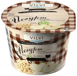"""Йогурт с яблокоми и овсяными хлопьями """"Vilvi"""""""