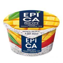 Йогурт высокобелковый Epica манго - семена чиа 5%
