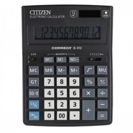 Калькулятор Citizen Correct D-312