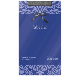 """Теплые колготки из хлопка """"Faberlic"""" 200 ден арт. ST212"""