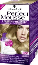 Краска-мусс для волос Schwarzkopf Perfect Mousse тон 800 средне-русый