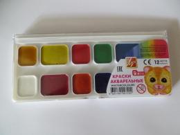 """Краски акварельные """"Луч"""" 12 цветов"""