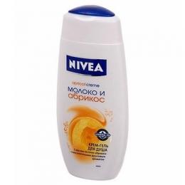 Крем-гель для душа Nivea Apricot creme молоко и абрикос