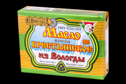 Масло сливочное крестьянское из Вологды 72,5%