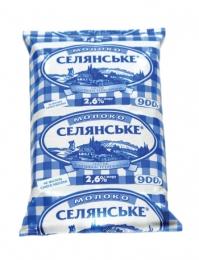 """Молоко """"Селянське"""" 2,6%"""