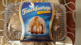 """Мороженое ванильное с бисквитом Славица """"Бисквитки"""" сыр и корица"""