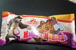 """Мороженое Ласунка """"Маша и Медведь"""" со вкусом какао и ванилина"""