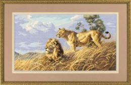 Набор для вышивания крестом Dimensions «Африканские Львы», арт. 3866