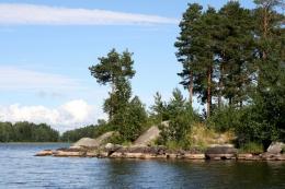 Озеро Вуокса (Россия, Приозерск)