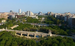 Парк Турия в Валенсии (Испания)