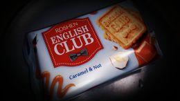 """Печенье сахарное Roshen """"English club"""" карамель и орех"""