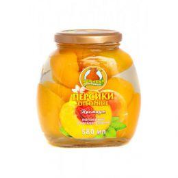 Персики отборные половинки в легком сиропе Медведь любимый