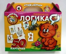 """Развивающая игра """"Логика"""" 50 карточек в 10 блоках, серия """"Умные игры"""" Русский стиль"""