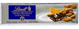 Темный шоколад Lindt с апельсином и миндалем