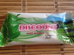 """Влажные салфетки """"Discount"""" Green tea"""