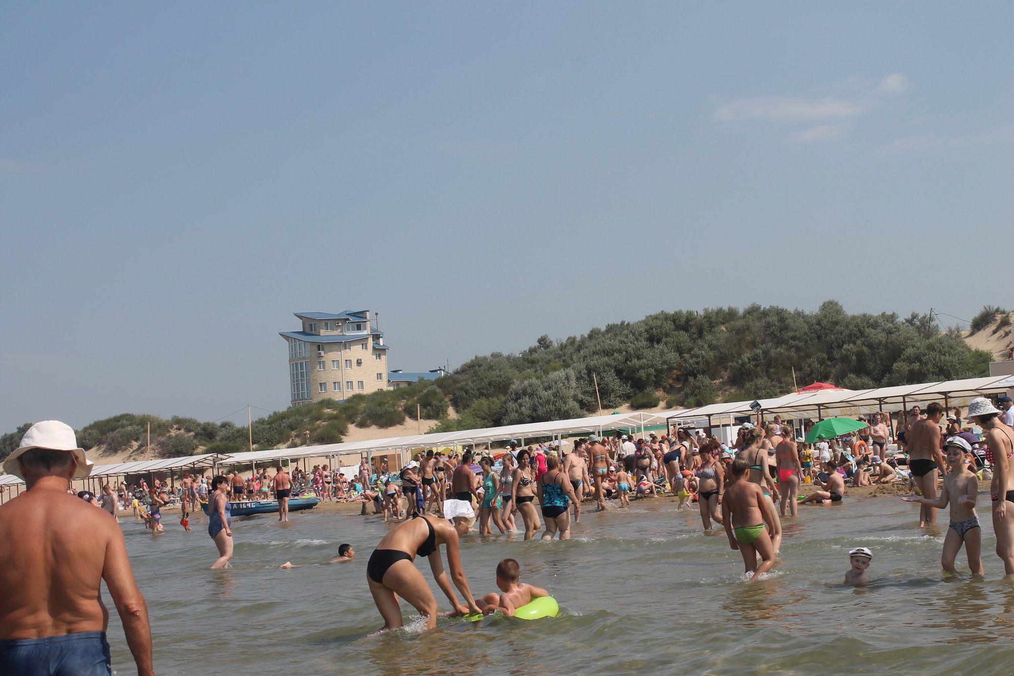 Фото пляжа джемете в августе