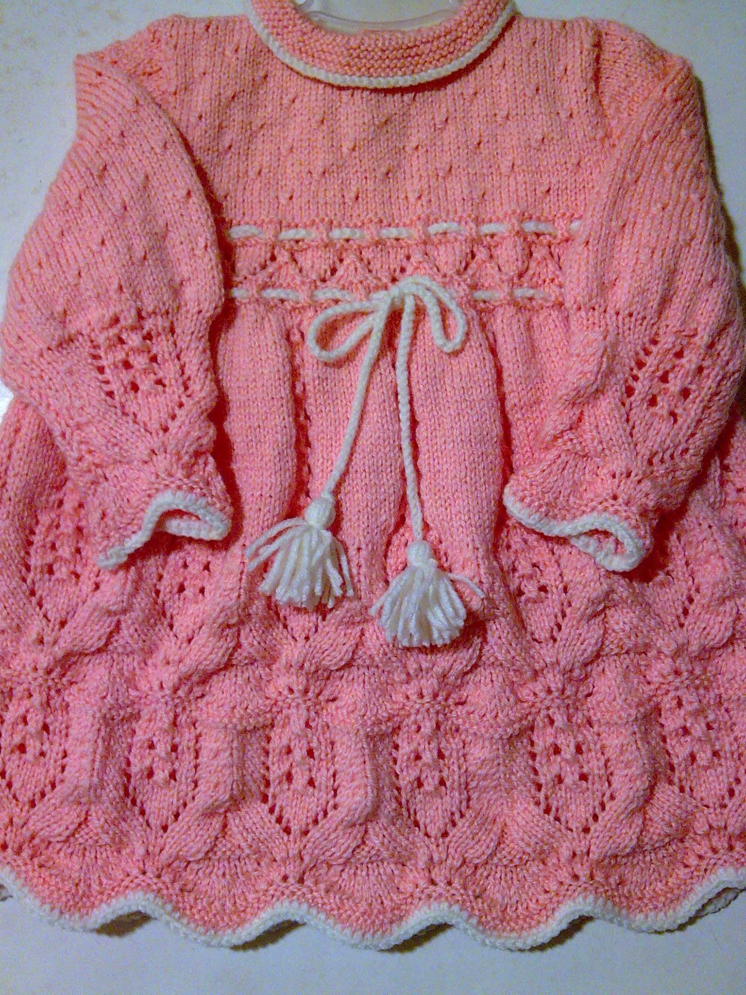 Вязание платьица для малышки спицами 1