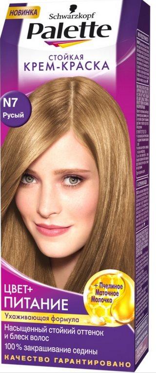 Палетте русый цвет волос фото